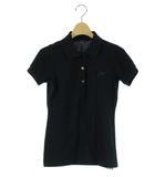 ラコステ LACOSTE ポロシャツ 半袖 ラインストーン 黒 38 /DK19