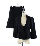 フラジール FRAGILE セットアップ 上下 スーツ フォーマル ジャケット 七分袖 ペプラム スカート ミニ 黒 36 /DK20