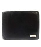 グッチ GUCCI 財布 二つ折り ミニ レザー ロゴ 黒 ブラック /YI21 ■OH ●D