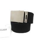クラネ CLANE ベルト ローラーバックル STITCH LOGO BELT ステッチ ロゴ F 黒 ブラック /MF33
