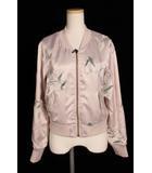 リリーブラウン Lily Brown 16SS スカジャン ジャケット ブルゾン 刺繍 F ピンク /kf0513