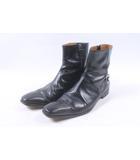 グッチ GUCCI ブーツ ショート レザー 40 黒 ブラック /au0520