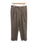 バーバリー BURBERRY パンツ スラックス ツータック ストレート 85cm 茶 ブラウン /KH