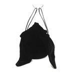 ラドロー LUDLOW バッグ ハンド 巾着 ベロア 黒 ブラック /KH