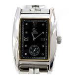 ゲス GUESS 腕時計 ウォッチ クォーツ 黒 シルバー GC1000 /YM