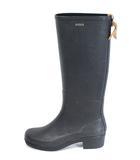エーグル AIGLE ブーツ レイン 長靴 ロング 黒 ブラック 37 /DE22