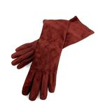 グローブス GLOVES 手袋 グローブ フェイクスエード 7 赤 /SR34