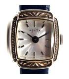 アガット agete 腕時計 クォーツ ステンレススチール レザー 紺 /YI23