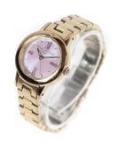 スタージュエリー STAR JEWELRY エコ 腕時計 クォーツ 3針 ソーラー 2SW0857 ゴールド /DE23
