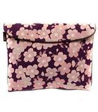 グローブトロッター GLOBE TROTTER バッグ クラッチ セカンド 桜柄 紫 ピンク /YI22