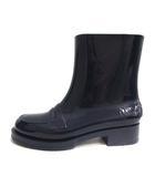 ヌメロヴェントゥーノ N°21 KARTELL ハイブリットミニマルレイン ブーツ ミドル ラバー 36 紺 /YO10