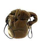 ラドロー LUDLOW バッグ 巾着 ベロア 茶色 /SR8