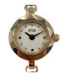 エテ ete 腕時計 クォーツ チェーン ゴールド色 /YI34
