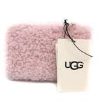 アグ UGG ポーチ 化粧ポーチ マルチポーチ ボア スモール ジップ ポーチ シープスキン 1091034 ピンク /YI26
