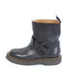マルタンマルジェラ Martin Margiela 22 ブーツ ショート エンジニア レザー 黒 ブラック 38 /DE6