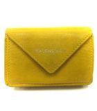 バレンシアガ BALENCIAGA 財布 三つ折り ミニ ペーパーミニウォレット 391446 黄色 /YI40