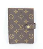 ルイヴィトン LOUIS VUITTON 手帳 カバー ケース アジェンダPM モノグラム R20005 茶 ブラウン /DE12