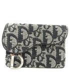 クリスチャンディオール Christian Dior カードケース 名刺入れ ロゴグラム トロッター ブラック 黒 /YO15