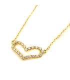 アーカー AHKAH vivian couture ネックレス ペンダント ビリーブハート ダイヤモンド 0.13ct K18 ゴールド /YO5