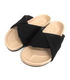 セリーヌ CELINE サンダル フラット Twist sandal ツイスト 37 ブラック 黒 /YO16