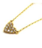 アーカー AHKAH ネックレス ペンダント ハートパヴェ ダイヤモンド 0.05ct K18 ゴールド /YO15