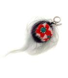 フェンディ FENDI キーホルダー バッグチャーム バッグ バグズ フラワリー BAG BUGS FLOWERY 紫 赤 緑 /YI39