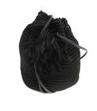 ラドロー LUDLOW バッグ ショルダー タッセル 巾着 ブラック 黒 /YO28