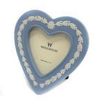 ウェッジウッド WEDGWOOD フォトフレーム フォトスタンド 写真立て ハートモチーフ ブルー 水色 /YO11