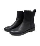 サルヴァトーレフェラガモ Salvatore Ferragamo ブーツ サイドゴア ショート レザー 5.5 黒 /YI10