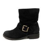 ディーゼル DIESEL ブーツ ショート スエード 23 黒 ブラック /SR35