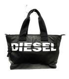 ディーゼル DIESEL バッグ トート ハンド ロゴ 黒 ブラック 白 ホワイト /SR34