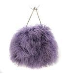 ジルサンダー JIL SANDER ハンドバッグ 巾着 ファー 紫 ラベンダー /KH