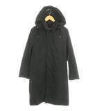 トラディショナルウェザーウェア Traditional Weatherwear フードステンカラーコート 34 黒 /HH ■OS