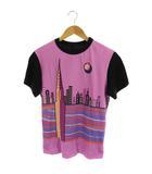 ルイヴィトン LOUIS VUITTON Tシャツ カットソー プリント 半袖 XS 紫 黒 RW201A /AO ■OS