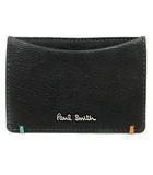 ポールスミス PAUL SMITH カードケース レザー ロゴ 黒 ブラック /SR ■AD