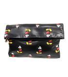 スナイデル snidel Disney バッグ クラッチ セカンド フェイクレザー ミッキーマウス 黒 /YI24