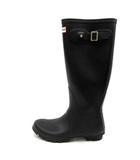 ハンター HUNTER レインブーツ 長靴 ロング ロゴ UK5 黒 ブラック /SR