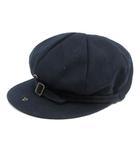 カシラ CA4LA 帽子 キャスケット ウール 紺 ネイビー /SR