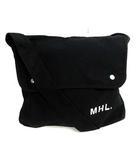 マーガレットハウエル MHL. バッグ ショルダー キャンバス ロゴ 黒 /YI8 ■AD