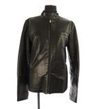 マルタンマルジェラ Martin Margiela 6 MM6 ウールレザーライダースジャケット ジップアップ 羊革 42 黒 /YS ■OS