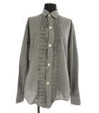 アールバイ フォーティファイブアールピーエム R by 45rpm ギャザーシャツ ギンガムチェック 長袖 3 黒 白 /KN ■OS