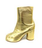 マルタンマルジェラ Martin Margiela 22 ブーツ 足袋 ショート レザー チャンキーヒール 36 ゴールド色 /SR