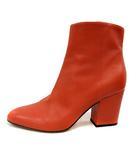 セルジオロッシ Sergio rossi ブーツ ショート ハイヒール レザー 36.5 茶色 ブラウン /SR
