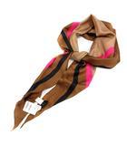 アルテア Altea ストール スカーフ シルク 茶色 ブラウン ピンク 黒 ブラック /SR
