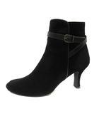 ダイアナ DIANA ブーツ ショート スエード ハイヒール 23.5 黒 ブラック /SR