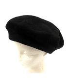 カシラ CA4LA 帽子 ベレー帽 ウール 黒 ブラック /YI11