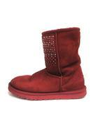 アグ オーストラリア UGG australia ブーツ ショート ムートン ビジュー クラシックショートブリング 24cm 赤 レッド 1003890 中国製 /YO13