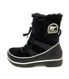 ソレル SOREL ブーツ ショート ウィンター スノーブーツ ティボリ 2 TIVOLI 2 スエード 中綿 ファー ロゴ 24cm 黒 NL2089-010 /YI17