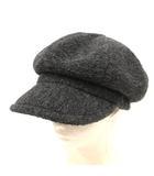 カシラ CA4LA 帽子 キャスケット ウール混 グレー /YO8