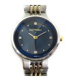 イヴサンローラン YVES SAINT LAURENT YSL 腕時計 ウォッチ Noel 98 クォーツ ダイヤ 4P シルバー ブルー /☆K